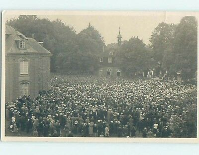 old rppc HUGE CROWD Stamped Town Of Herzford On Back - Lingen Germany HM2043