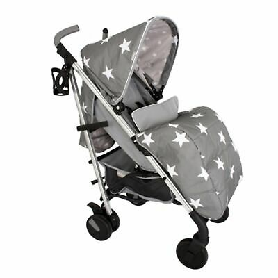 My Babiie MB51 From Birth Baby Stroller / Pram - Grey Stars