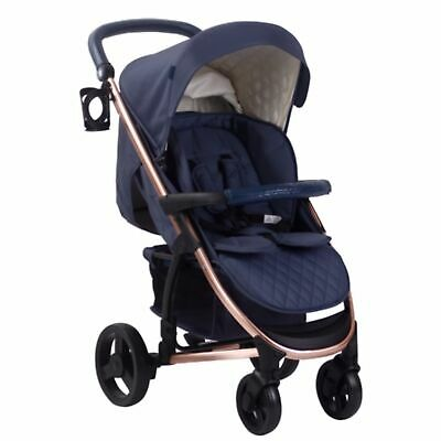 My Babiie MB200 From Birth Baby Pushchair / Pram - Navy and Rose Gold