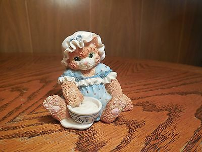 Collectible Enesco Calico Kittens Finicky An Unexpected Treat 1994 Figurine