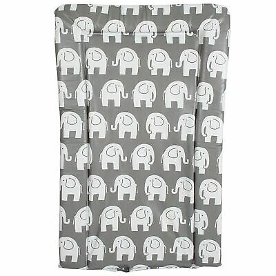 My Babiie From Birth Baby Changing Mat - Grey Elephants