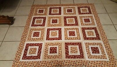 Handmade Christmas Quilt Gingerbread Men ( 52 x 52) approx ) (unfinished)