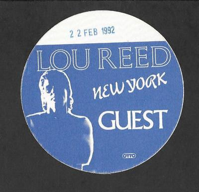 LOU REED Authentic Original NYC Back Stage Pass 1992