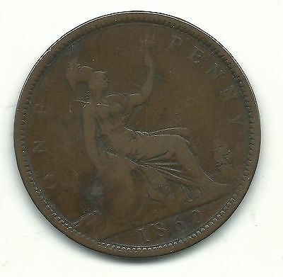 Very Nice Vintage 1862 Great Britain English Large Penny Cent-Oct177