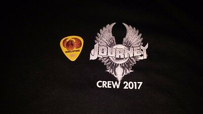 Journey 2017 Local Crew Shirt XL NEW NEVER WORN plus guitar pick