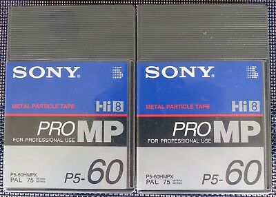 2x SONY Hi8/DIGITAL 8 HMPX60 CAMCORDER CASSETTE/TAPES