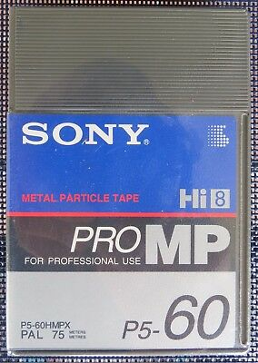 SONY Hi8/DIGITAL 8 HMPX60 CAMCORDER CASSETTE/TAPE