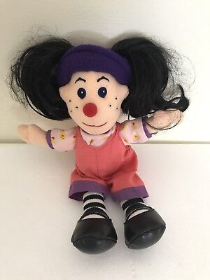 """The Big Comfy Couch Loonette The Clown 9"""" Plush Doll Vintage 90s"""