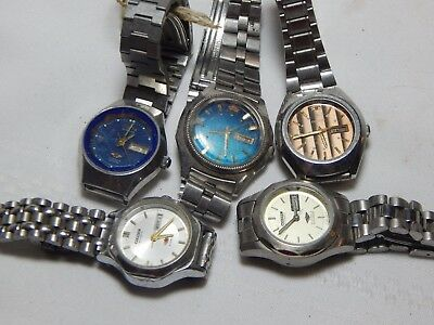 Orient And Citizen Automatic Day Date Watches With Original Bands 5 Pcs