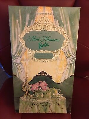 Mint Memories Barbie 1st In The Series Porcelain Victorian Tea Collection