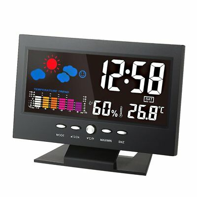 KKmoon °C/°F Multifunctional Indoor Colorful LCD Digital Temperature Humidity