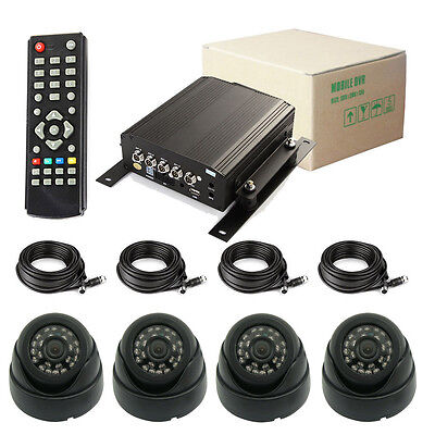 720P 4 Channel Car DVR and H.264 Vehicle Video Record DVR Camera with AHD Camera