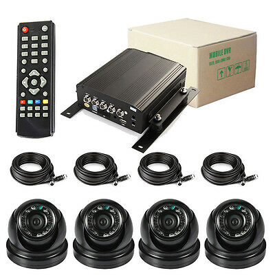 720P 4 Channel Car DVR and H.264 Car Video Recorder DVR Camera with AHD Camera
