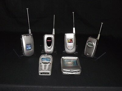 Lot of 6 demo flip phones (Former Sprint display units).