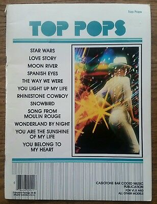 Top Pops Casiotone Bar Coded Music Publication - 1970