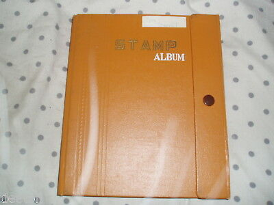 Vintage Stamp Album 18 Card Pages Stamps Worldwide Ideal Present For A Child Lt4