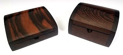 Jay & Janet O'rourke - Two American Artisan Modernist Burl Wood Hinged Jewel Box