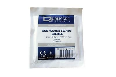 Qualicare Non Woven Sterile Swabs - Pack of 5 (Choose Size)