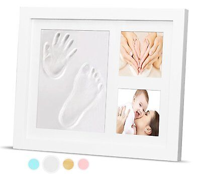 Timeless Newborn Baby Hand and Footprint Kit and Frame – Adorable Baby Gift by