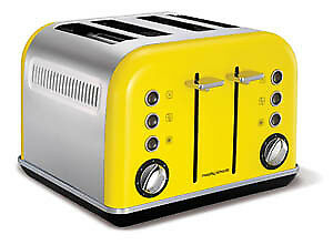 Morphy Richards Yellow Accents 4 Slice Toaster - 242025
