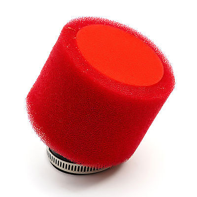 Performance Pit Bike 40mm 42mm Red Double Foam Angled 45 Air Filter 125cc 140cc