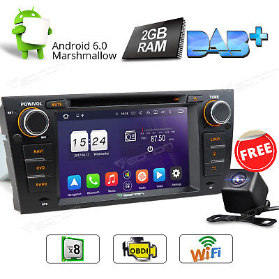 "7"" Octa Coree Android 6.0 Car DVD Player GPS For BMW E90-E93 + Backup Camera W"