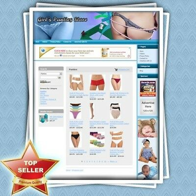 WOMEN'S PANTIES STORE -Work-at-Home Business Website Faster Return on Investment