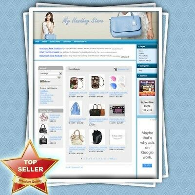 HANDBAG STORE: Make BIG Money with Dropship Website, Faster Return on Investment