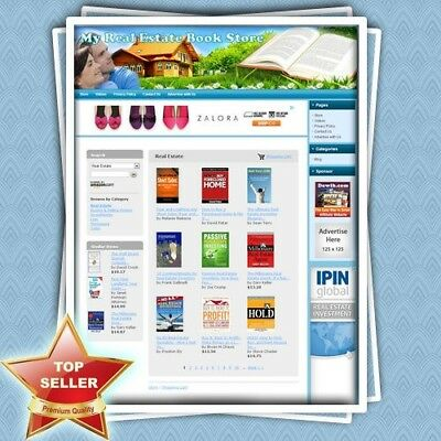 REAL ESTATE BOOK STORE - Highly Profitable Home-based Affiliate Website For Sale