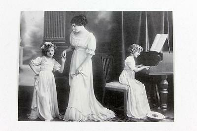 Reproduction French Postcard titled Music and Dance circa 1921