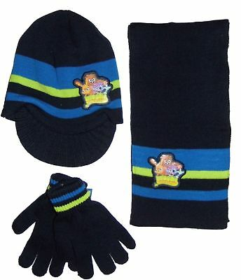 Childrens Navy Moshi Monsters Scarf,Gloves & Hat Set
