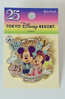 Tokyo Disney Resort Pin TDR 25th Anniversary Parade Jubilation Mickey Minnie TDR