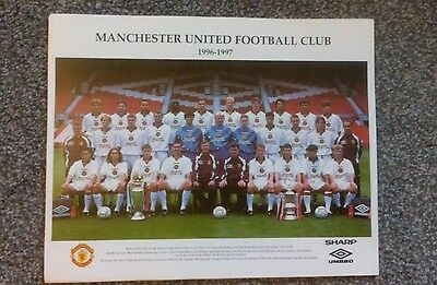 Man United 1996/97 Team/Squad Poster