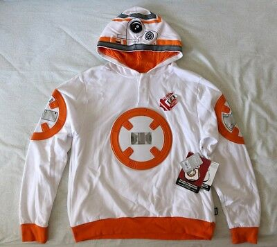 Star Wars The Force Awakens BB8 Droid Interactive Hoodie sz Small Adults Unisex