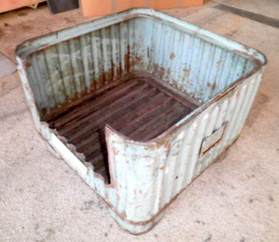 Vintage Industrial BMC Steel Parts Bin Planter Pet Bed Fire Pit Box Storage Used