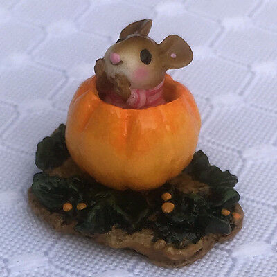 Wee Forest Folk Itty Bitty Pumpkin Pink With Box New In Package