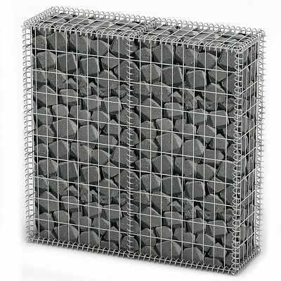 # New Gabion Wall 4mm Strong Metal Gabions Basket Cage 100x100cm Galvanized Stee