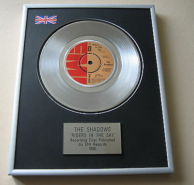 THE SHADOWS Riders In The Sky PLATINUM SINGLE DISC PRESENTATION
