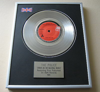 THE POLICE Spirits In The Material World PLATINUM SINGLE DISC PRESENTATION