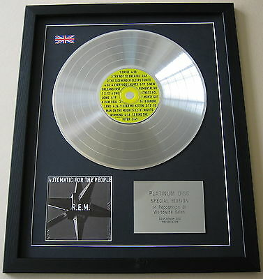 REM Automatic For The People CD / PLATINUM LP DISC Presentation