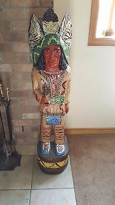 Vintage 4' Ralph Gallagher Cigar Store Indian