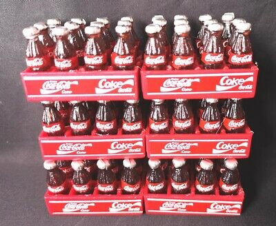 Lot 6 pcs coke coca cola dollhouse miniature fridge magnets bottles drink gift