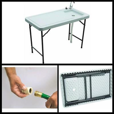 PORTABLE OUTDOOR Camp Sink Folding Table Kitchen Cooking Camping ...