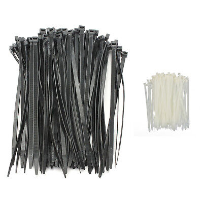 100PCS Strong Cable Ties / Tie Wraps Zip Ties Color:Black Size:5*300mm V5M4