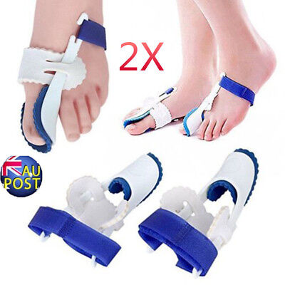 2x Straightener Bunion Hallux Valgus Corrector Toe Pain Relief Night Splint MN U