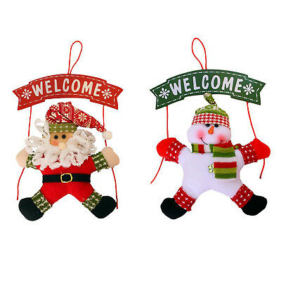 New Snowman Christmas Wreath Christmas Hang on door Party Home Decor L5I3 F2Y4