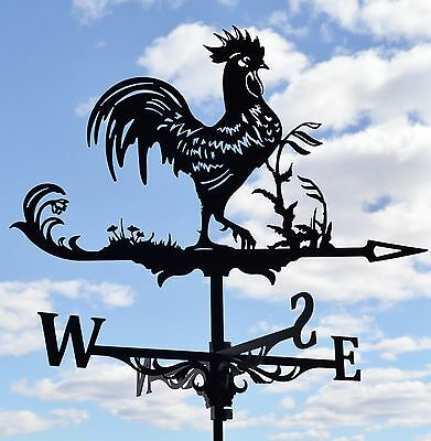 Rooster Chicken Metal Weathervane Roof Mount Weather Vane Decor FREE SHIPPING