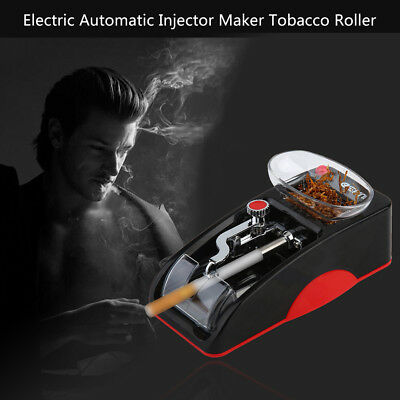 Automatic Electric Cigarette Rolling Machine Tobacco Roller Injector Maker New