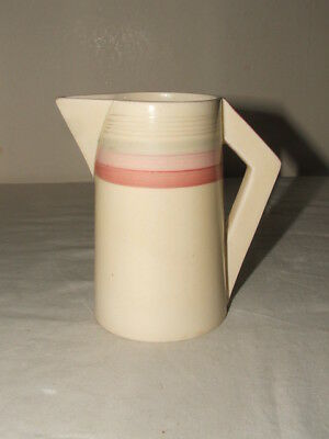 Clarice Cliff Art Deco Bizarre Pink Banded Conical Tall Jug  Truly  Stunning