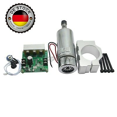 CNC ROUTER Air Cooled 0.4KW Spindle Motor & PWM Speed Controller & Mount EU